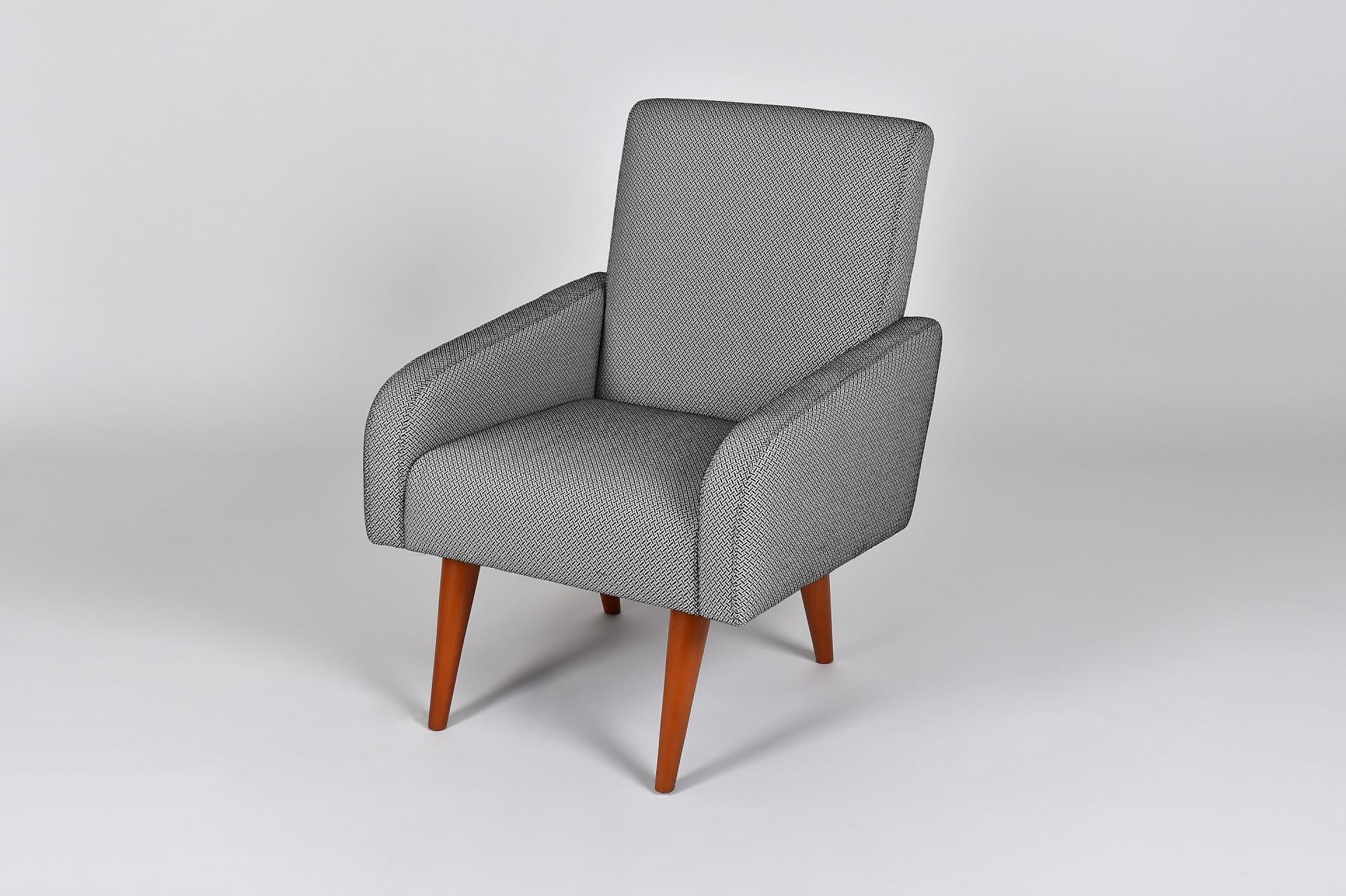 Fauteuil Retro Design.Fauteuil Retro Gris Mi Furniture