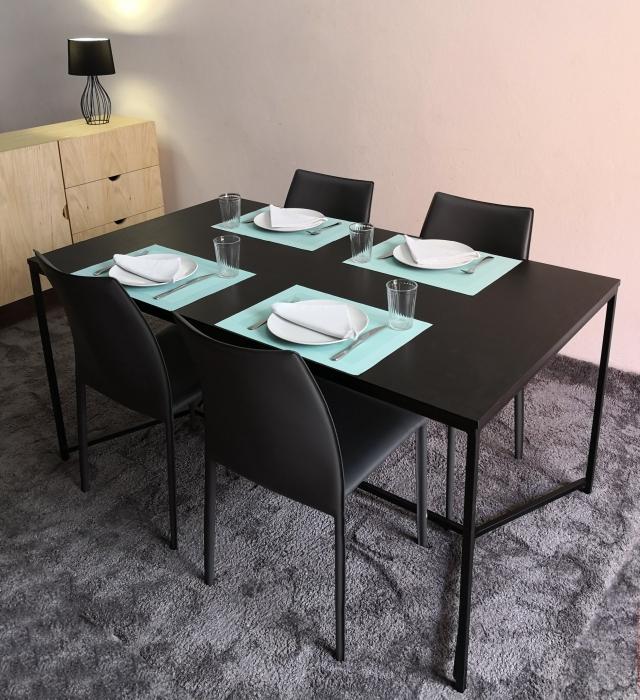 Table sam noire pieds métal 2
