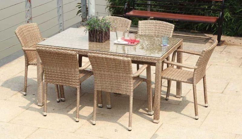 Table De Jardin Rotin 6 Chaises Mi Furniture